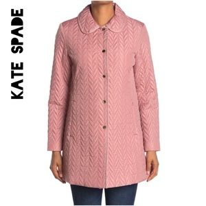 ☀️NWT☀️KATE SPADE Snap Button Quilted Coat